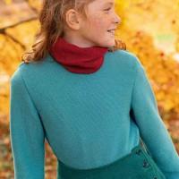 Edler Linksstrick-Pullover türkis