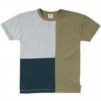 Hochwertiges T-Shirt Block-Design khaki