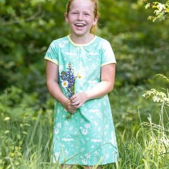 sommerliches Kleid Dschungel mint
