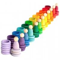 Nins® Carla 120 teiliges Holzspielzeug Set ab 18 Monaten