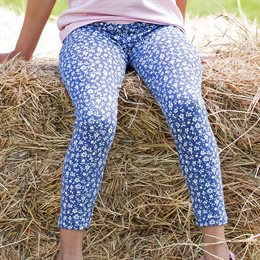 Blumen Bio Leggings lila