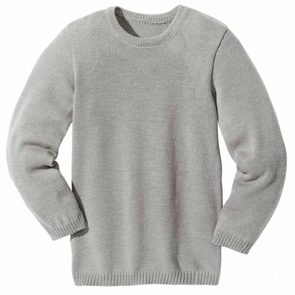 Wolle Basic Pullover in grau