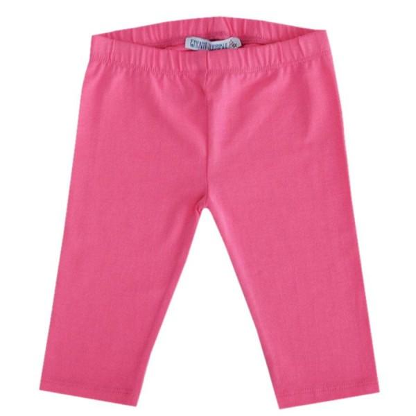 Pinke glatte 3/4 Leggings