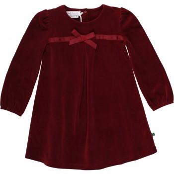 Schickes Velour Kleid bordeaux