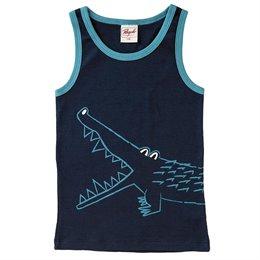 Unterhemd Jungen Bio Krokodil blau