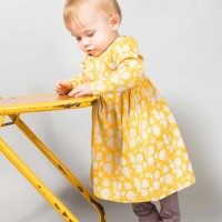 Mädchen Babykleid in gelb