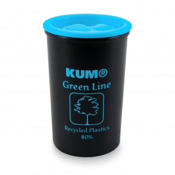 Doppelanspitzer recyceltem Kunststoff - Aufdruck blau