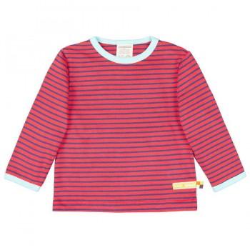 Langarmshirt rot geringelt