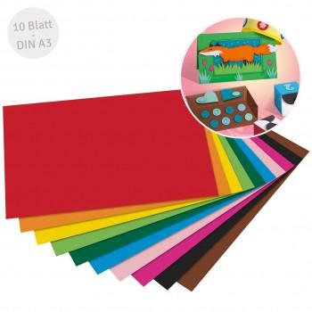 Recycelter Fotokarton bunt DIN A3 10 Bogen