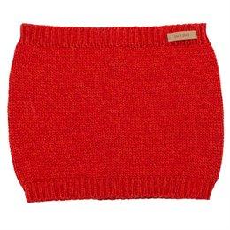 Schlauschal gestrickt Wolle Seide 5-14 Jahre rot