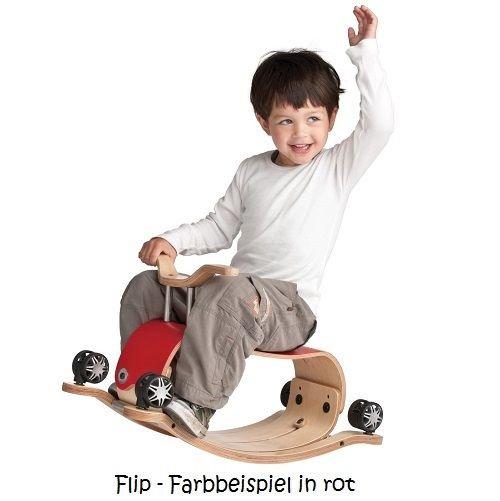 """""""2in1"""" Schaukel & Rutschfahrzeug """"Flip"""" - weiß"""