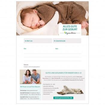 Email Gutschein zur Geburt
