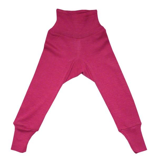Wolle Seide Hose Bündchen pink