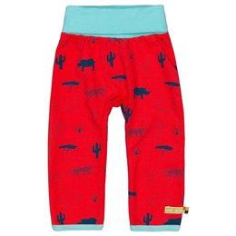 Sweathose Umschlagbund Wildtiere rot