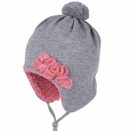 Süsse warme Mütze für elegante Mädchen Wolle / Biobaumwolle
