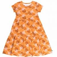 Stufen Kleid Blätter in hellem orange