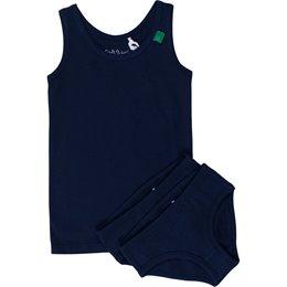Set Girl 1 Unterhemd 2 Slips navy