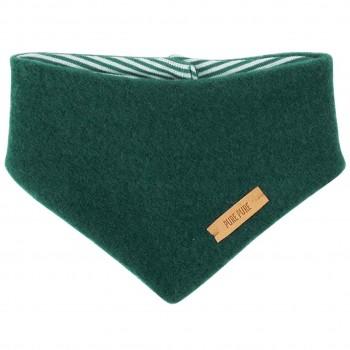 Grünes dickes Wolle Halstuch mit Druckknopf
