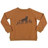 Pullover Sweat Wolf in hellbraun