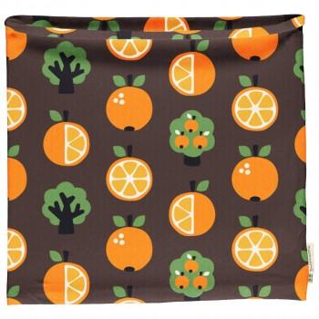 Schlauchschal leicht Orangen braun
