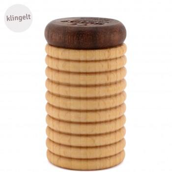 Glöckchen-Shaker Holz Musikinstrument hell