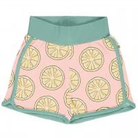 Leichte Jersey Shorts Zitronen in hellrosa