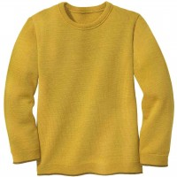 Strick Pullover in curry-gelb