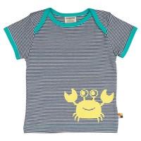 Krabben Shirt leicht marine gelb