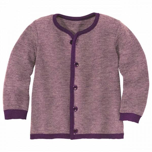 Strickjacke warm und leicht lila