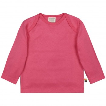 Leichtes Uni Shirt langarm Basic in pink