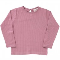 Mädchen Shirt langarm Rippoptik in rosa
