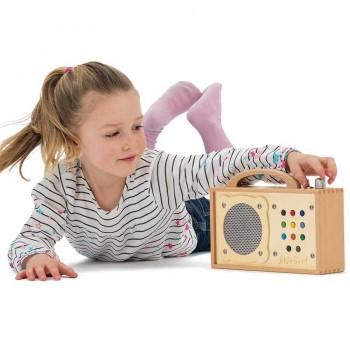 Hörbert GRAVIERT MP3-Player Kinder incl. 9 Hörspiele