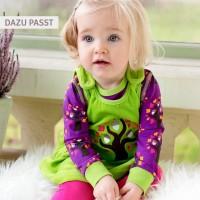 Vorschau: maxomorra warmer Babystrampler ohne Druckknöpfe Apfel