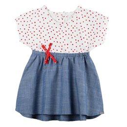 Sommerkleid mit Shorts Punkte rot