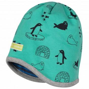 Wendemütze Sweat Pinguine und Robben grün
