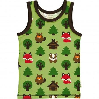 Unterhemd Wald Tiere in grasgrün