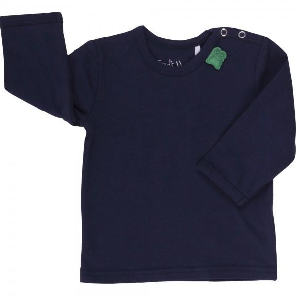 Bio Langarmshirt für Jungen und Mädchen navy