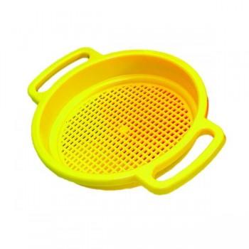 Großes Sandsieb - gelb