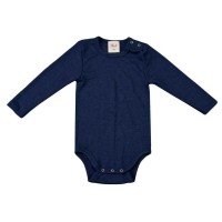 Wolle Seide Baby Body marine