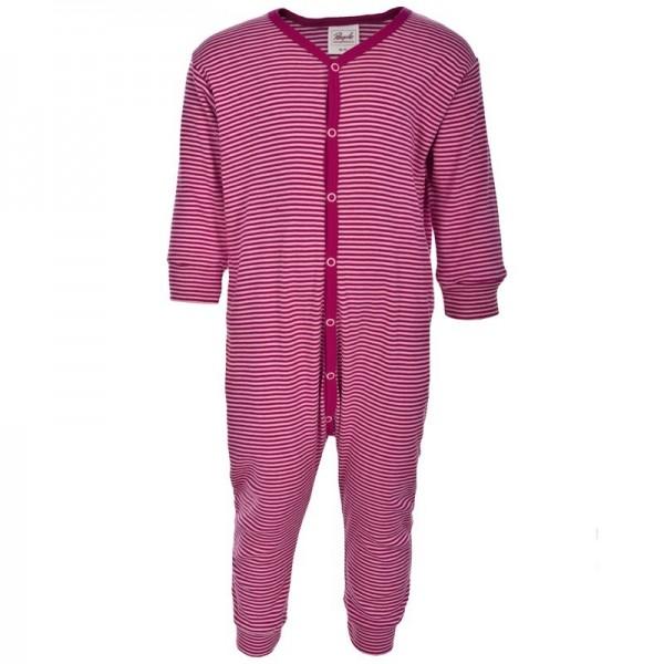Leichter Babystrampler ohne Fuß dehnbare Rippqualität - pink