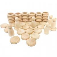 Nins®, Rings & Coins natur – 60 tlg. Set ab 18 Monaten