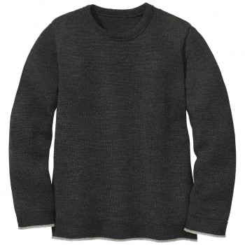 Strick Pullover in anthrazit