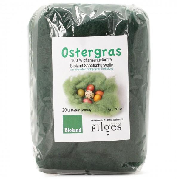 Ostergras pflanzengefärbt & gekämmt 20 g