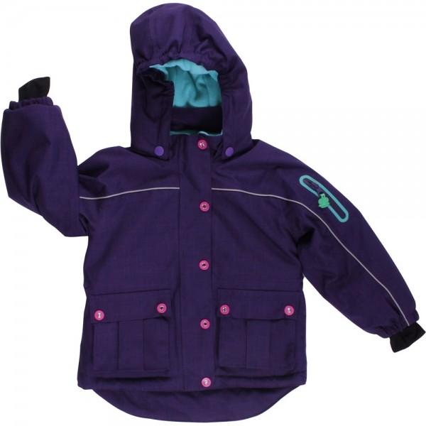 Warme Winterjacke für Mädchen - lila