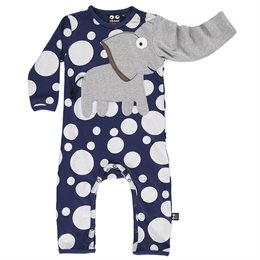 Cooler Elefanten Babystrampler marine