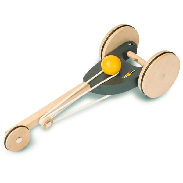 Flitzer Holzfahrzeug mit Gummimotor