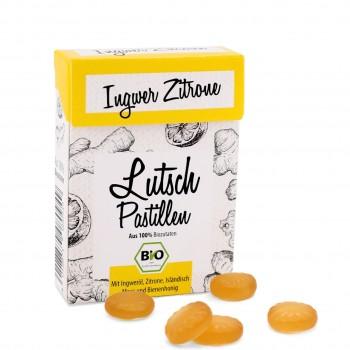 Bio Lutschpastillen Ingwer Zitrone mit Isländisch Moos