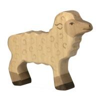 Holzfigur Lamm - auf dem Bauernhof