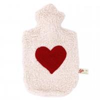 Auslaufsichere Wärmeflasche Herz 0,8l geruchsneutral