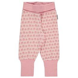 Bequeme Krabbelhose mit Elefanten rosa